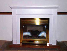 Painted mantel fireplace